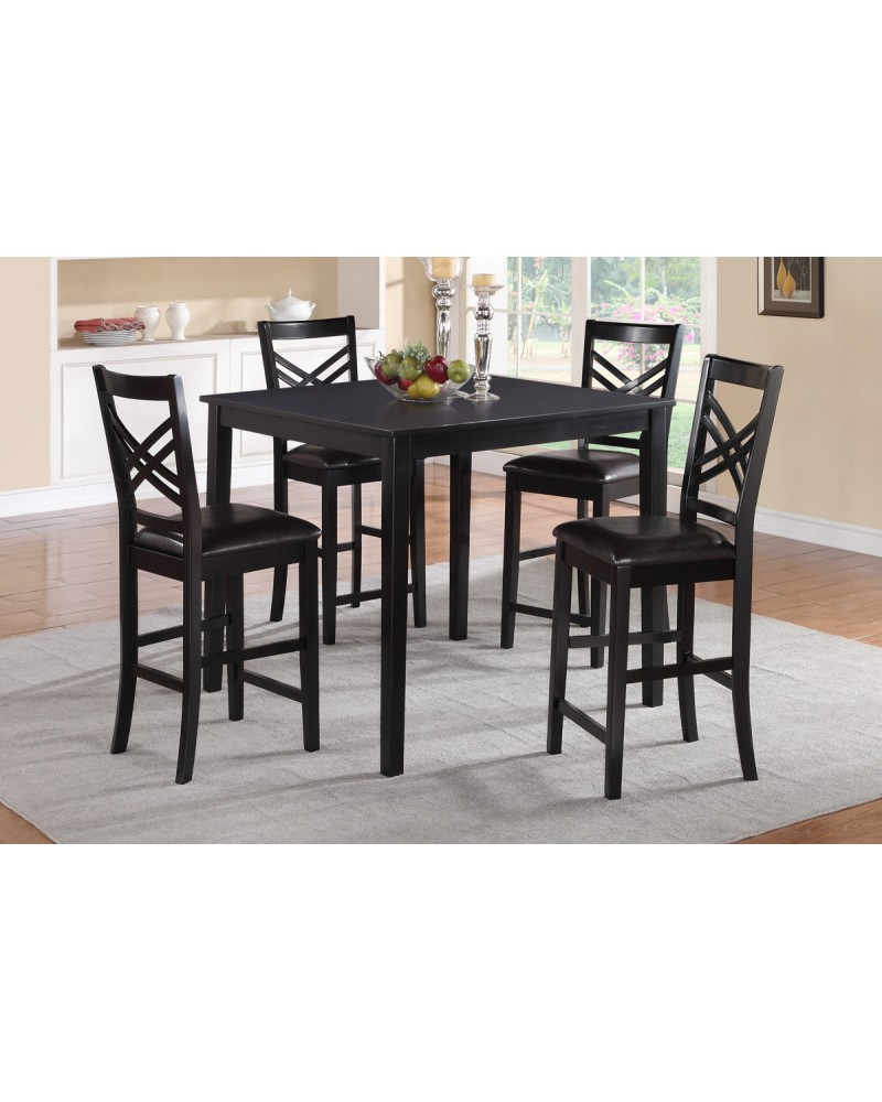 Espresso Upholstered Counter Height Dining Chair by Poundex - F1339