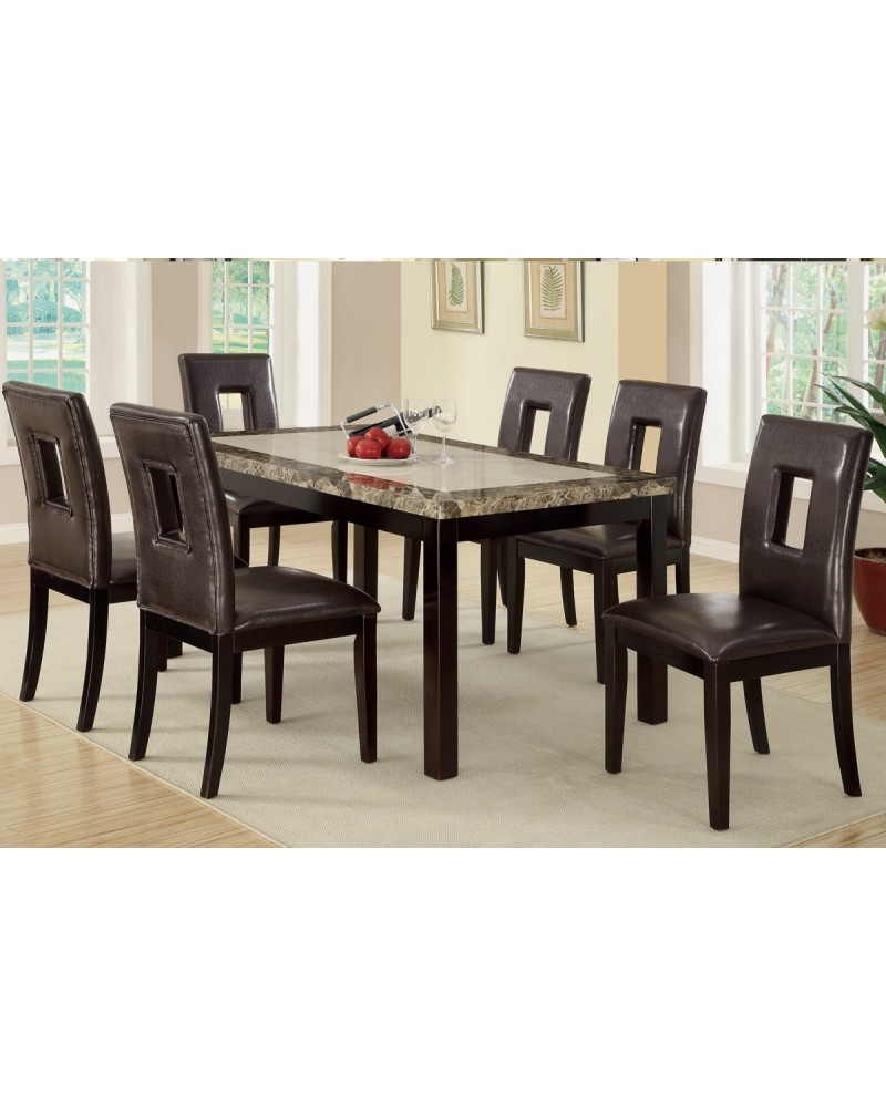 Marble Look Casual Dining Table by Poundex - F2094