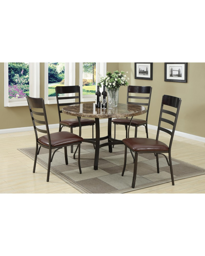Dark Brown Dining Table by Poundex - F2017