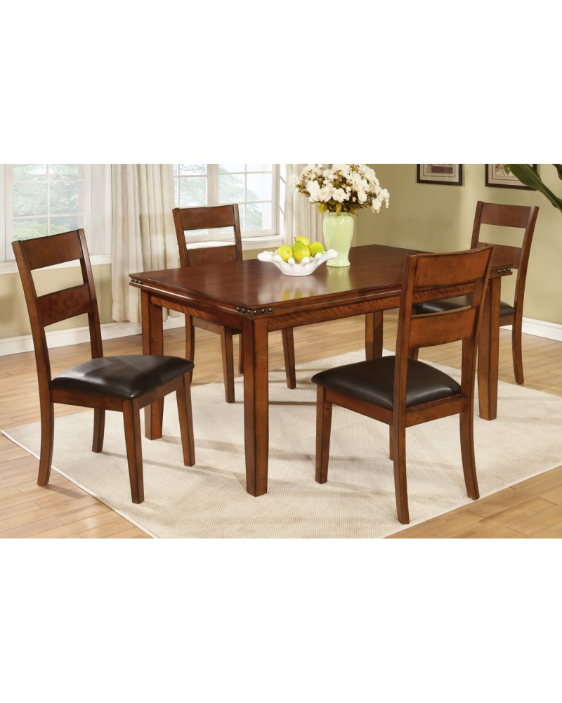 Oak Finish Country Style Dining Table by Poundex- F2192