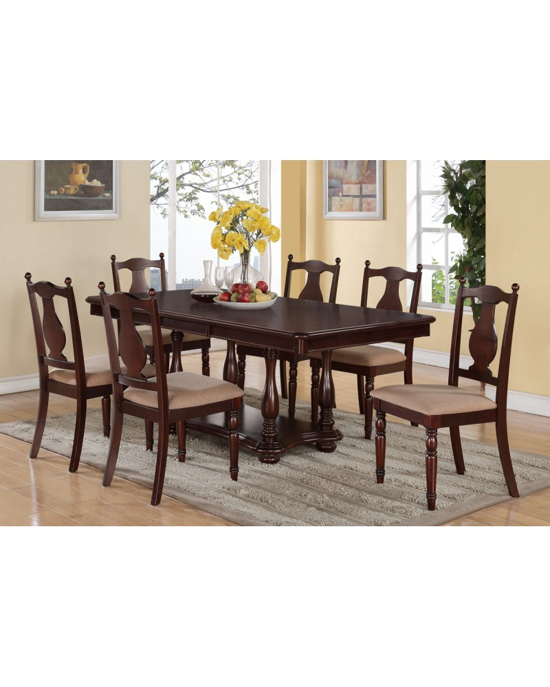 Wood Finish Dining Table by Poundex - F2420