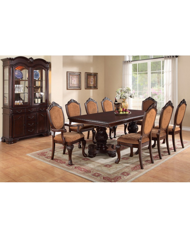 Eight Seat Rectangular Dining Table by Poundex - F2182