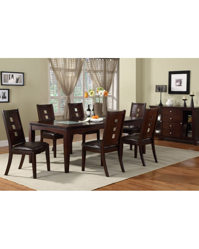 Liam Dark Brown  dining chair by Poundex - F1165