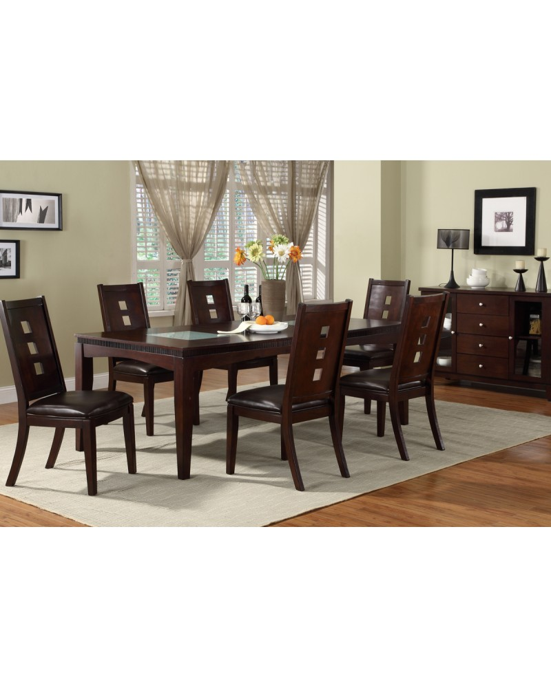 Rich Brown Dining Table by Poundex - F2165