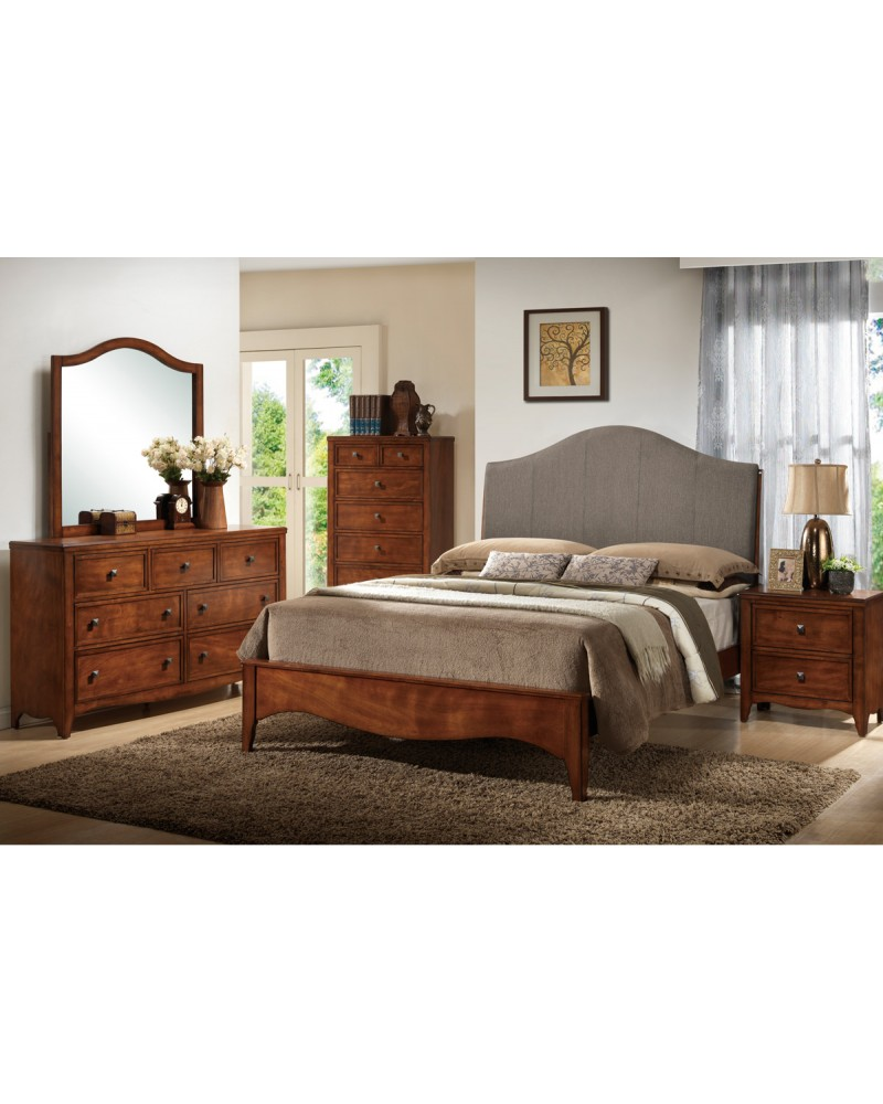 Rustic Brown Queen Bed by Poundex - F9178