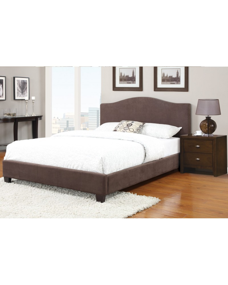 Queen Bed with Microfiber Bed Frame by Poundex - F9251