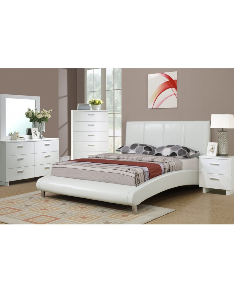 Modern White Two Drawer Nighstad by Poundex - F4786