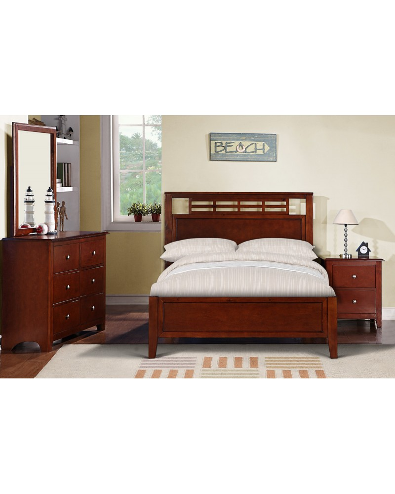 Medium Oak Twin Bed with Trundle by Poundex -F9099T