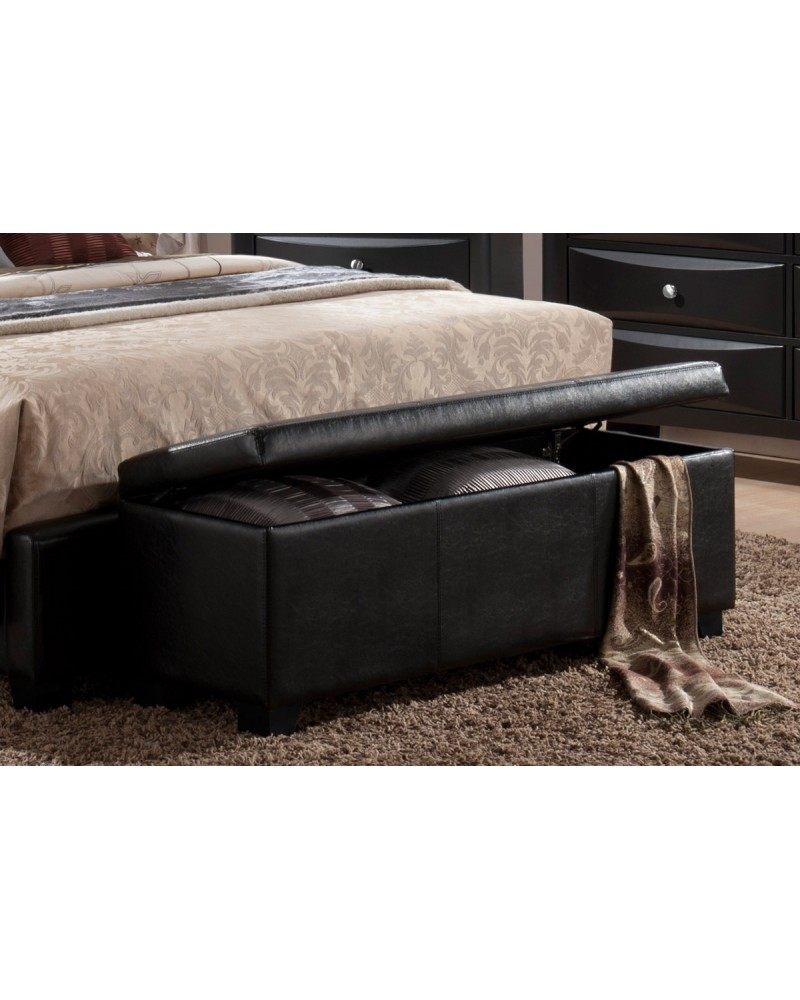 Faux Leather Bench with Storage by Poundex - F4555