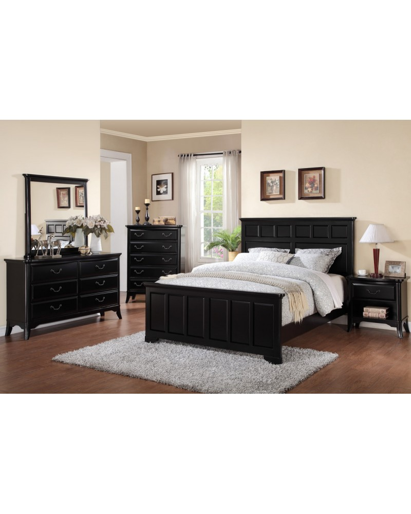 Dark Brown Queen paneled bed by Poundex -  F9287Q