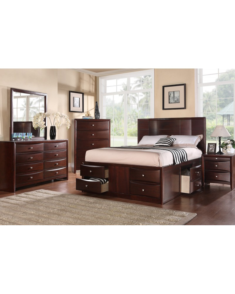 Wood Finish Dresser by Poundex - F4558