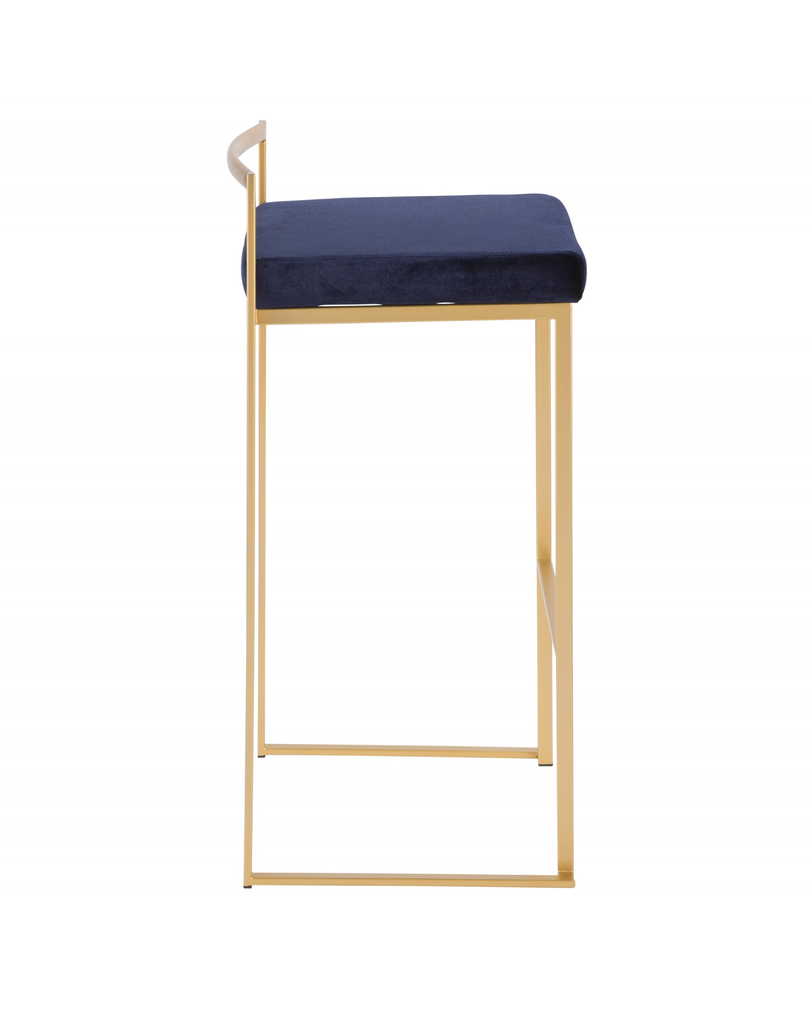 Fuji Barstool Fuji Contemporary Glam Stackable Barstool in Gold