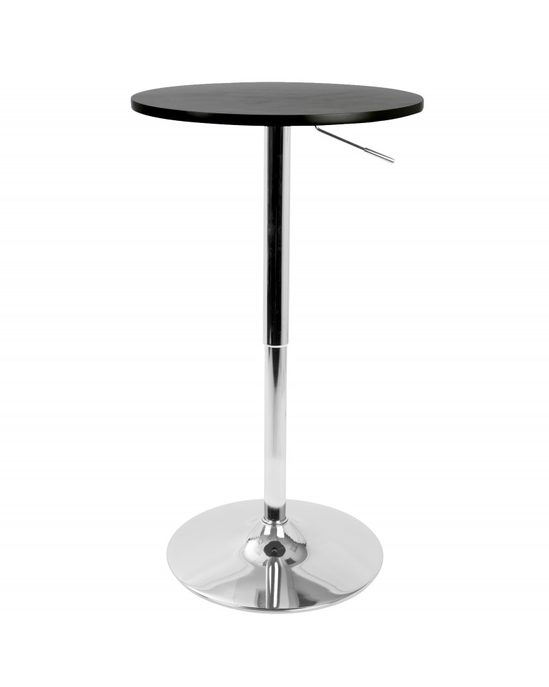 Adjustable Contemporary Bar Table in Black