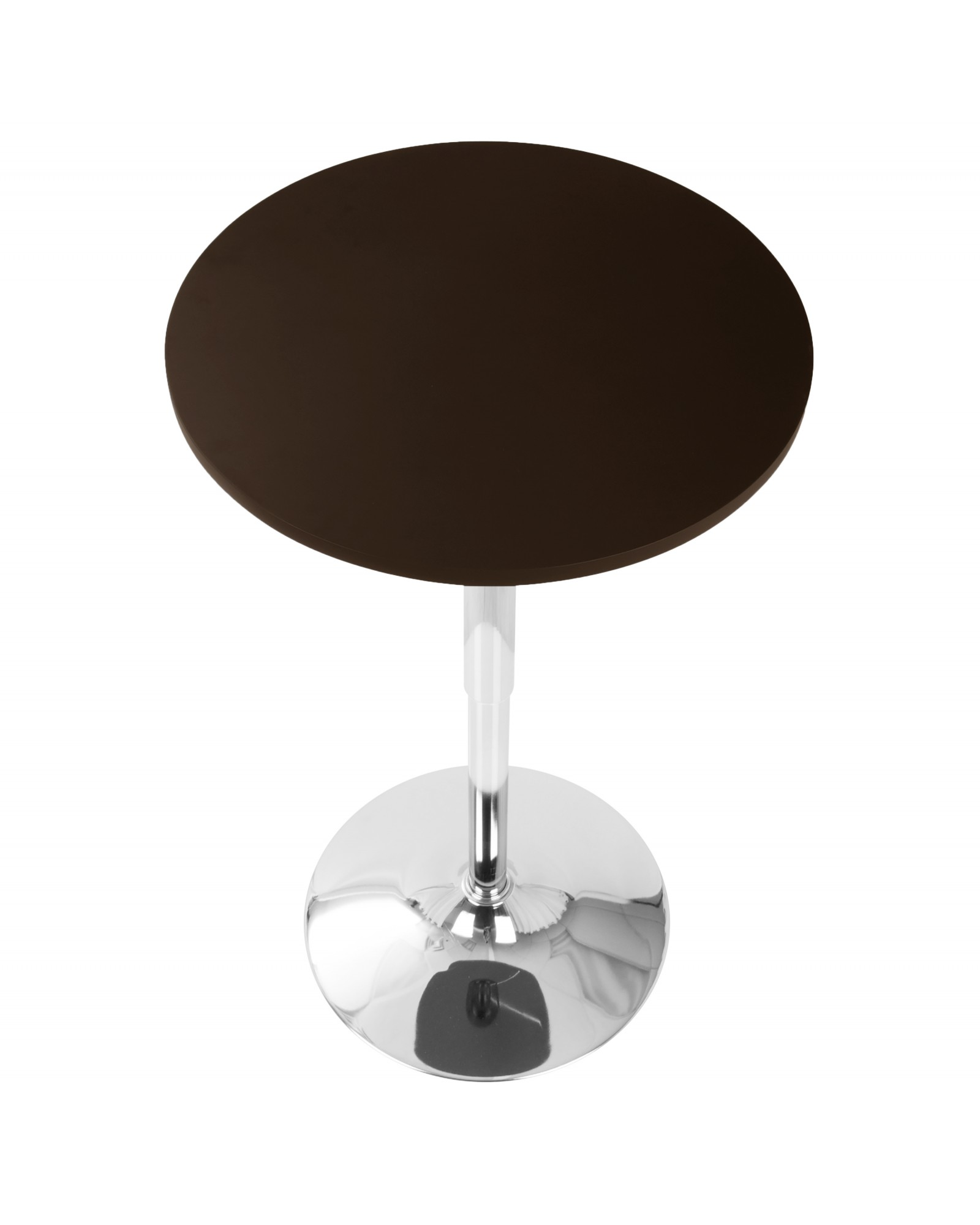 Adjustable Contemporary Bar Table in Brown