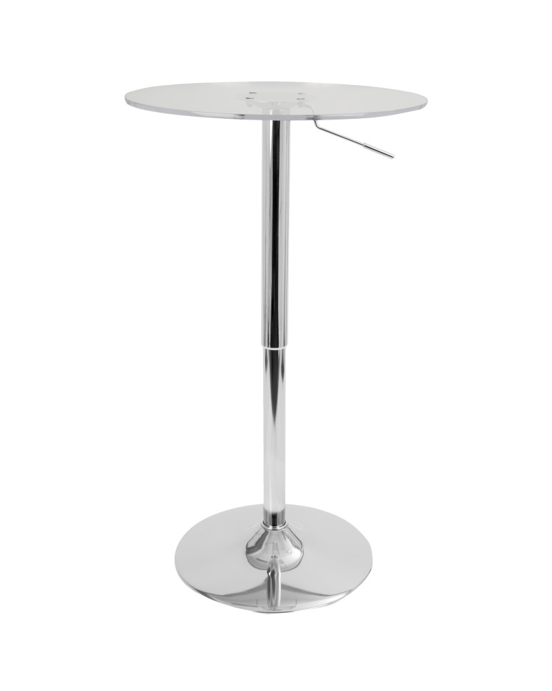 Clear Adjustable Contemporary Bar Table