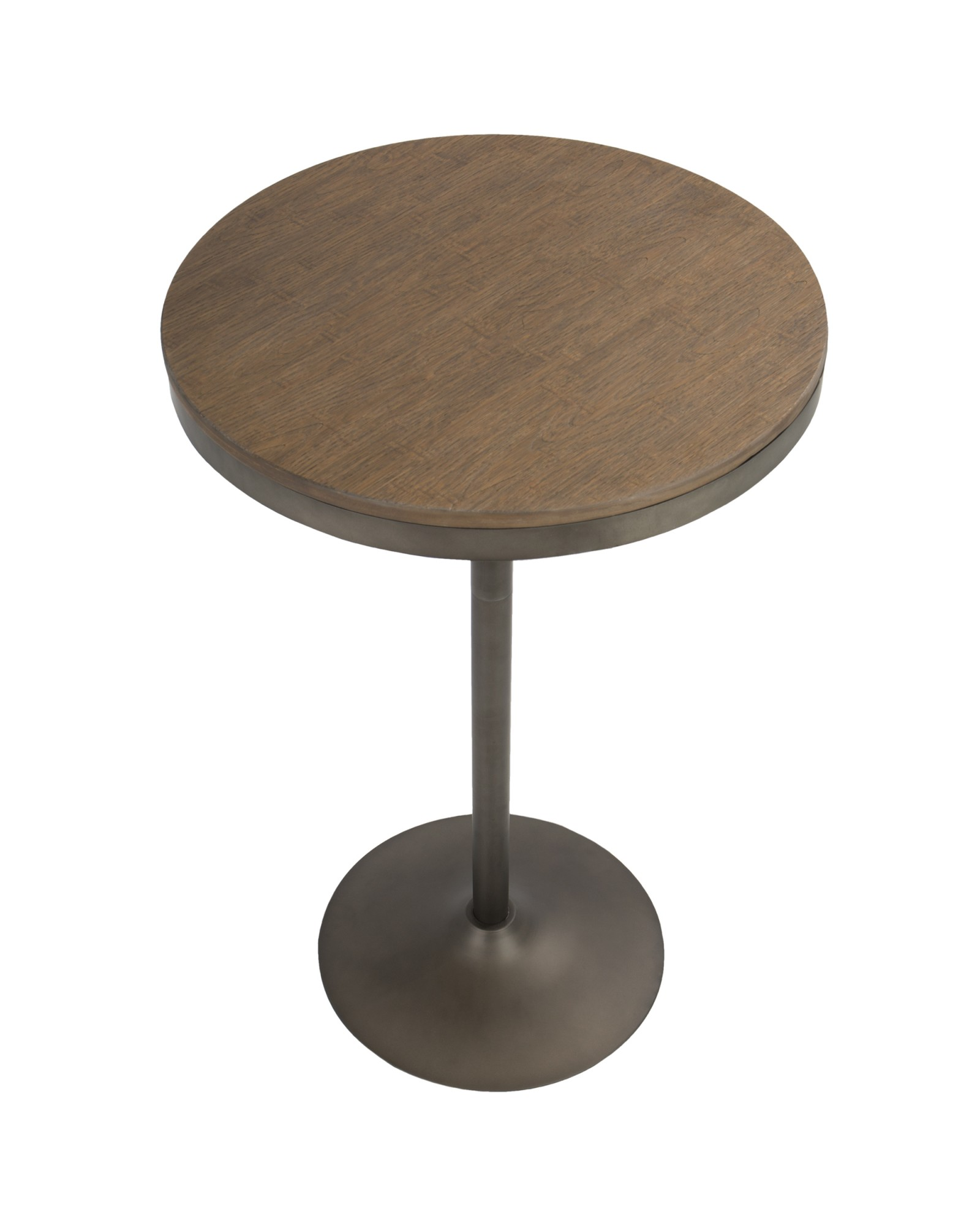 Dakota Industrial Adjustable Bar / Dinette Table in Antique and Brown
