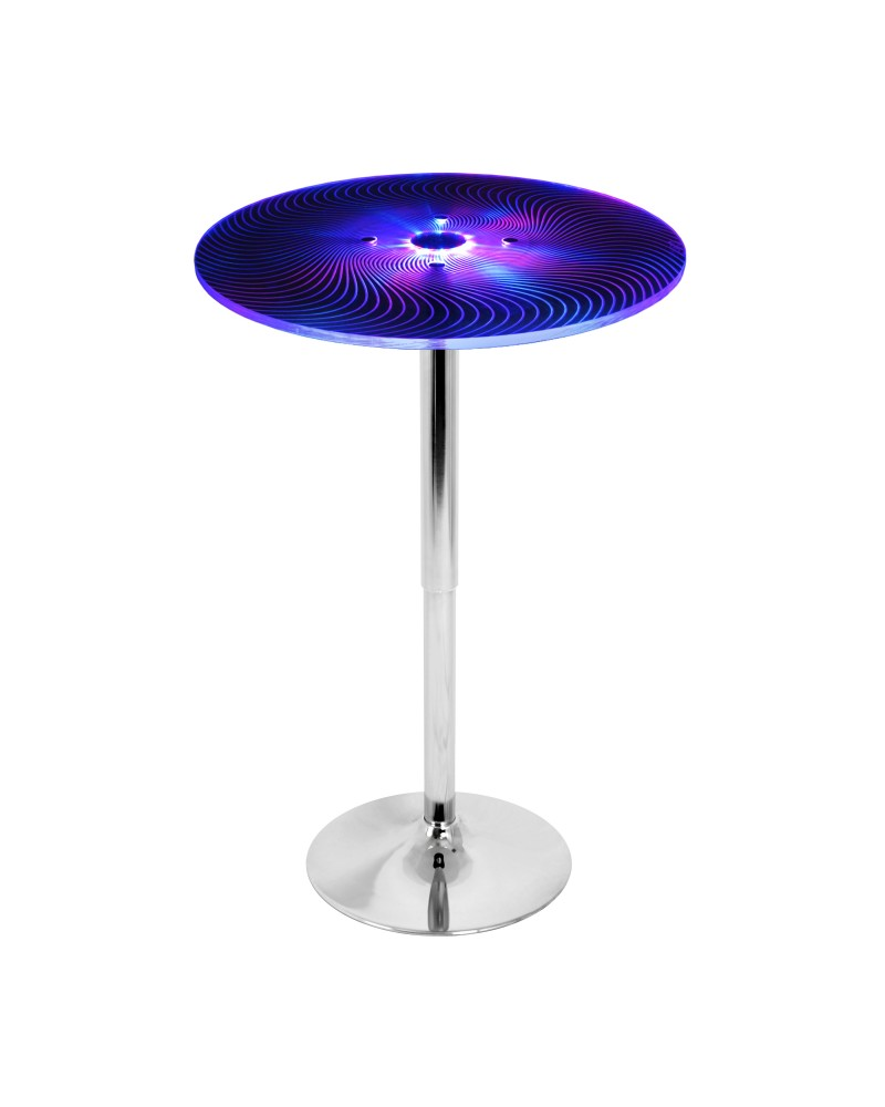 Spyra Contemporary Light Up Adjustable Bar Table