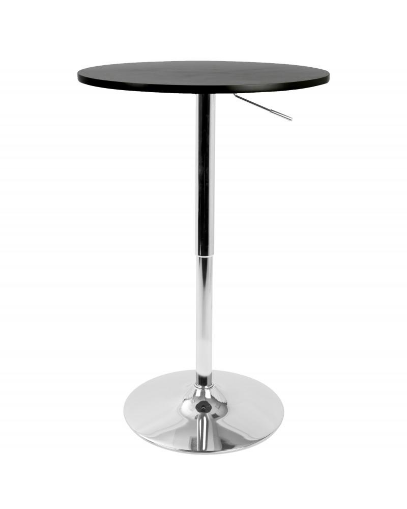 Elia Contemporary Adjustable Bar Table in Black