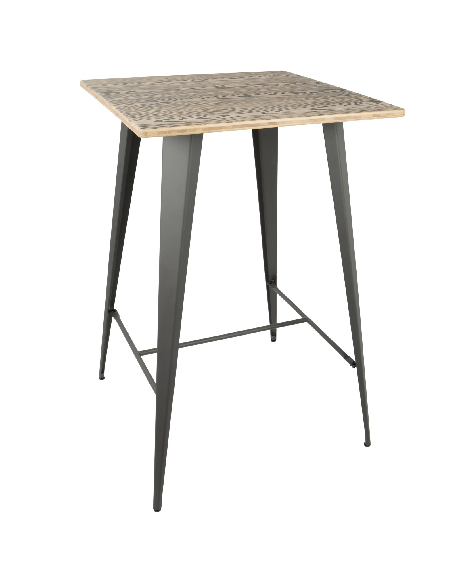 Oregon Industrial Table in Grey and Brown LumiSource