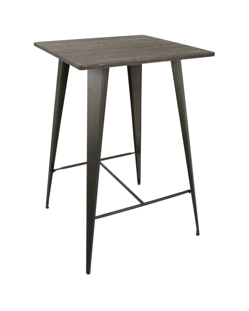 Oregon Industrial Table in Antique and Espresso LumiSource