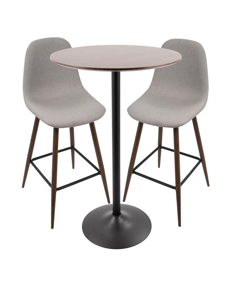 Pebble Pub Set Pebble Piece MidCentury Modern Set In Light Grey - Mid century modern pub table