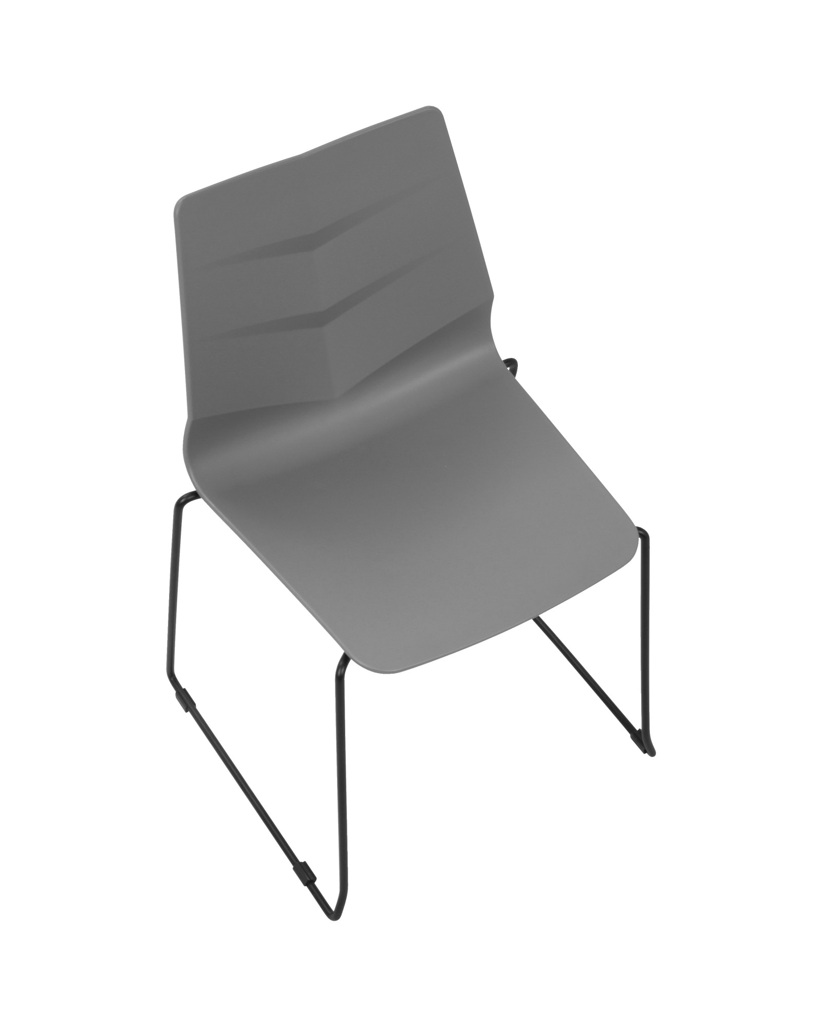Arrow Contemporary Dining Chair in Black and Grey - Set of 2
