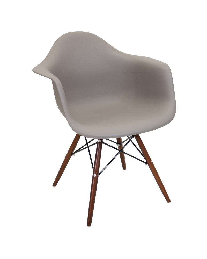 Neo Flair Mid-Century Modern Chair in Cappuccino and Espresso - Set of 2