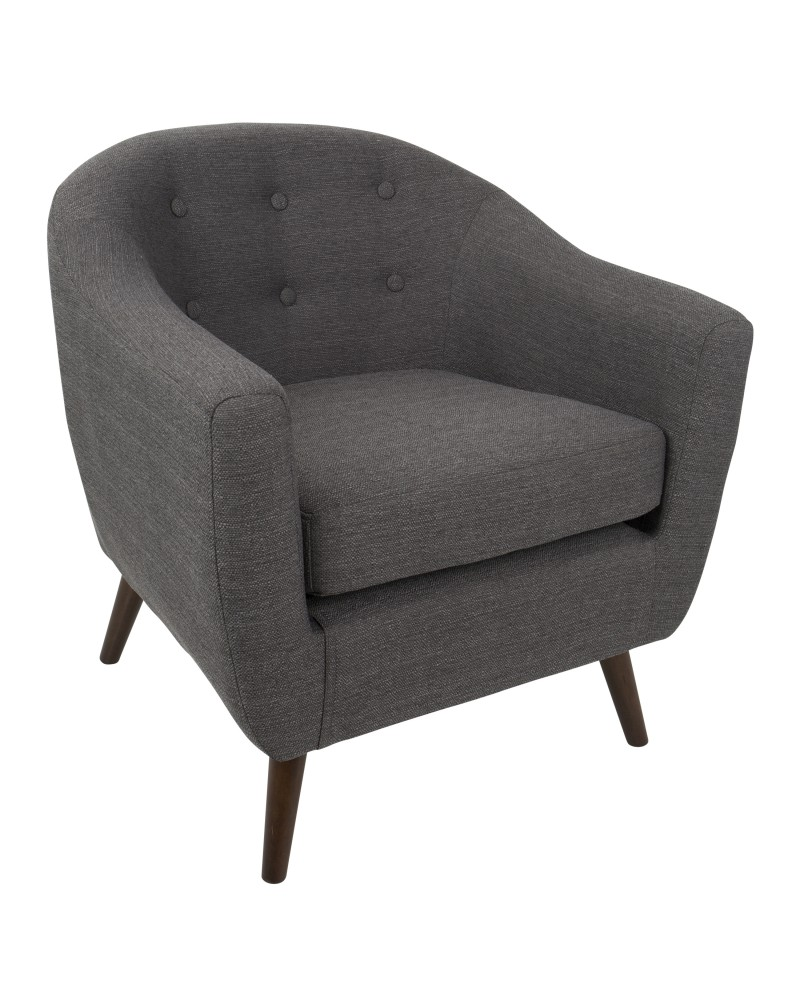 Rockwell Mid Century Modern Accent Chair in Grey