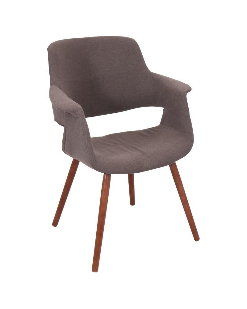 Vintage Flair Mid-Century Modern Chair in Medium Brown
