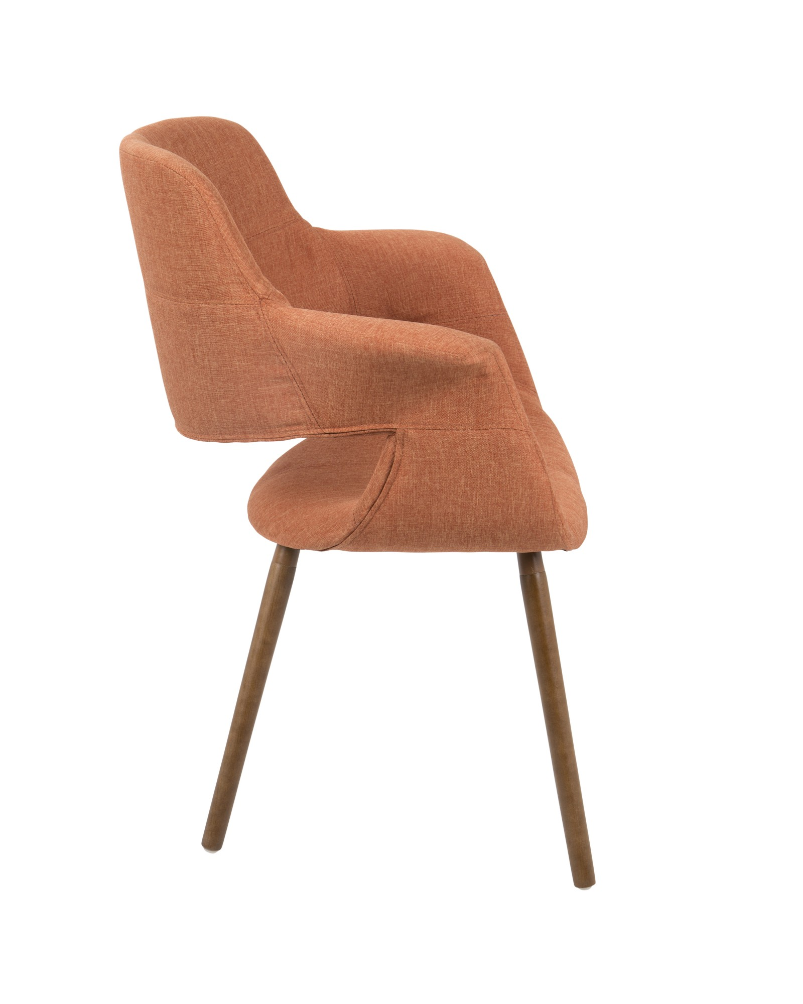 Vintage Flair Mid-Century Modern Chair in Orange