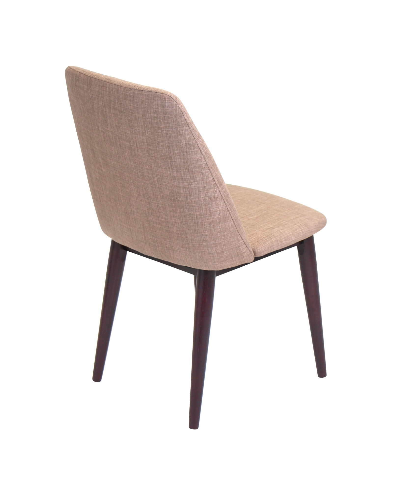 Tintori Contemporary Dining Chair in Brown Fabric - Set of 2