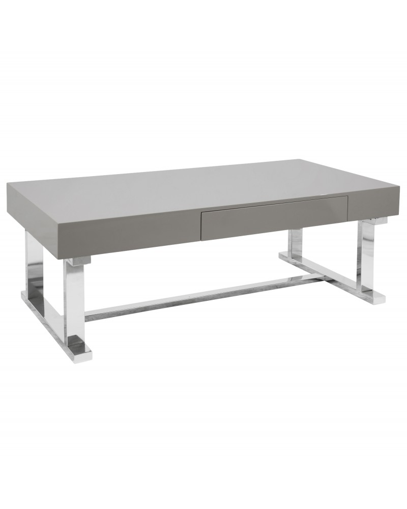 Luster Contemporary Coffee Table in Grey