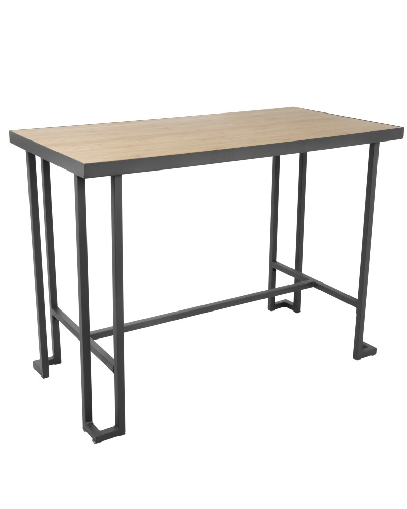 Roman Industrial Counter Table in Grey and Natural