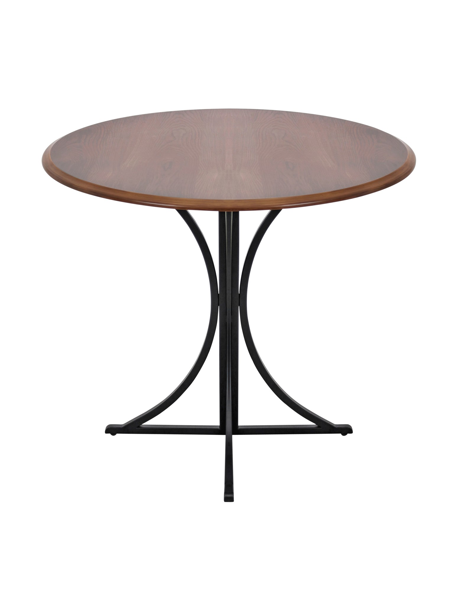 Boro Contemporary Dining Table in Walnut and Black