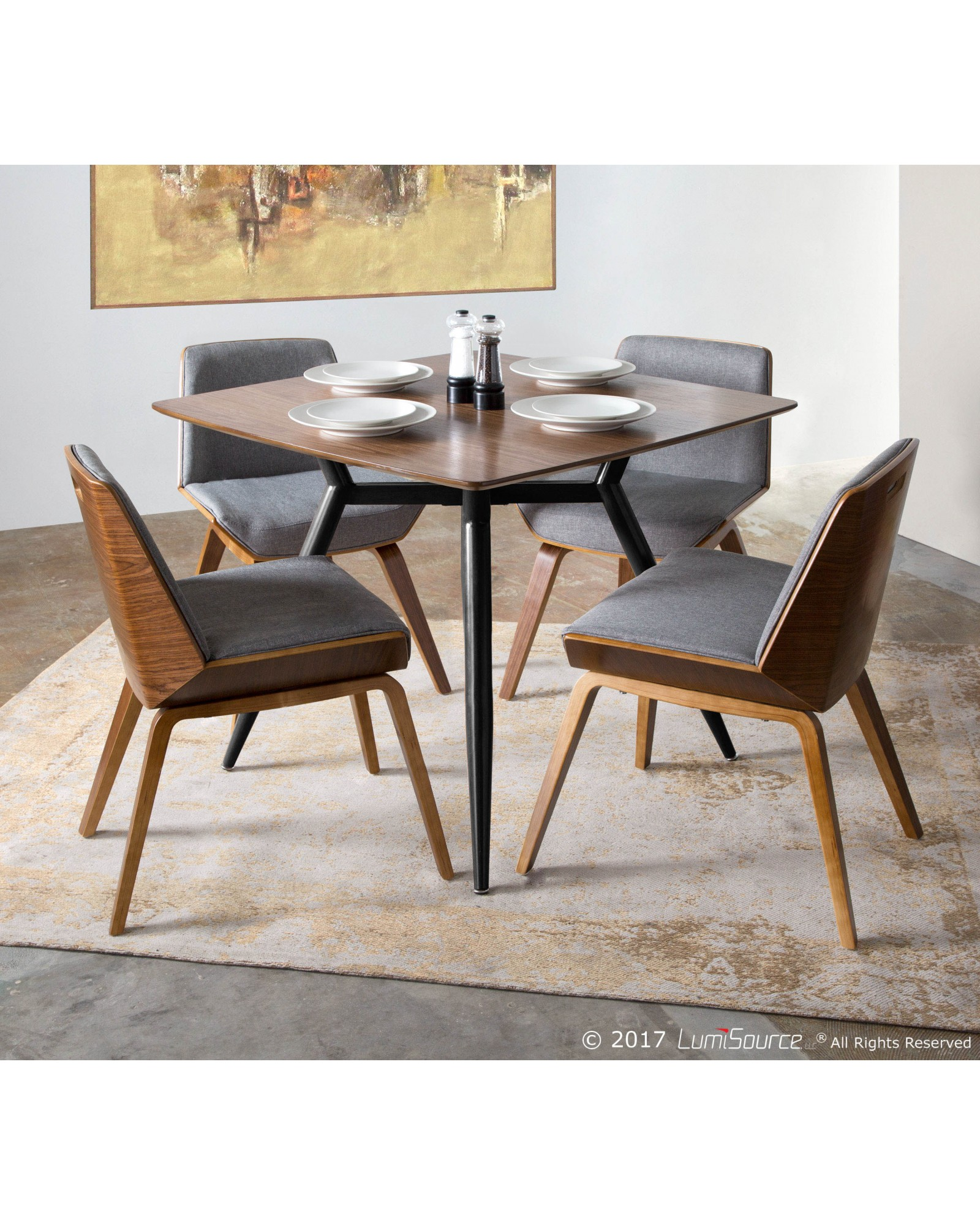 Clara Dining Table Clara Mid Century Modern Square Dining Table