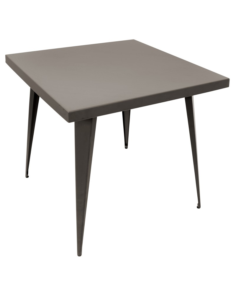 Austin Industrial Dining Table in Antique