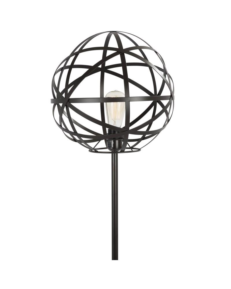 Linx Industrial Floor Lamp in Antique