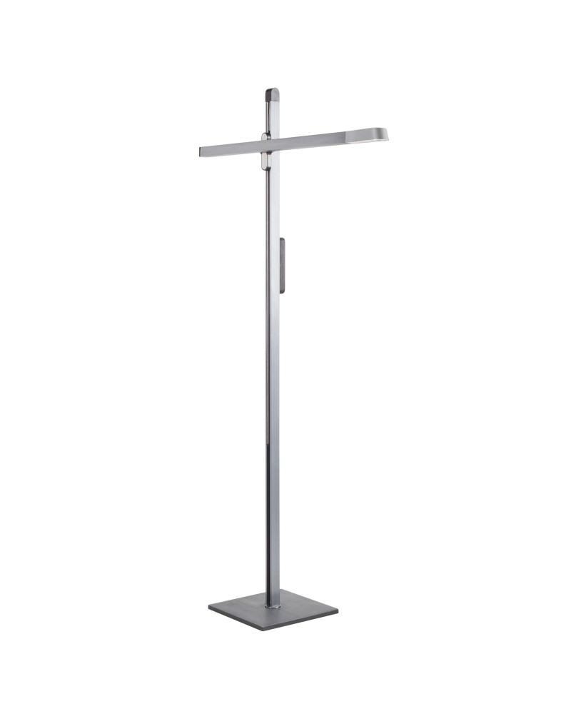 Spire Modern LED Adjustable Floor Lamp in Charcoal