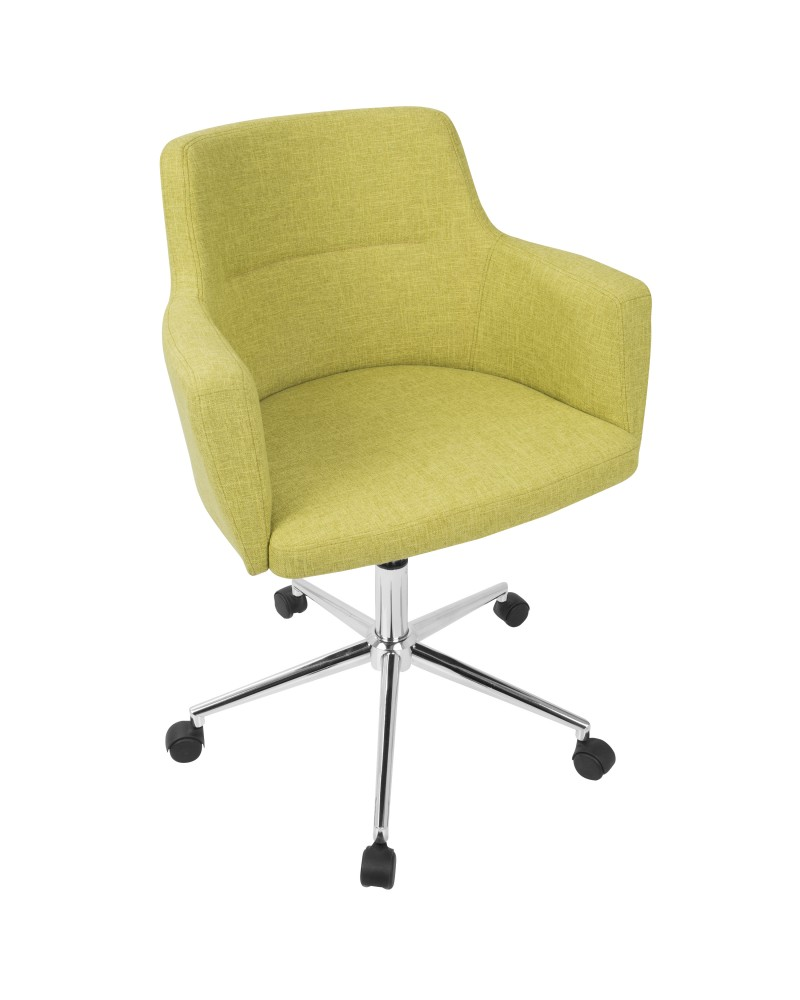 Andrew Contemporary Adjustable Office Chair in Green