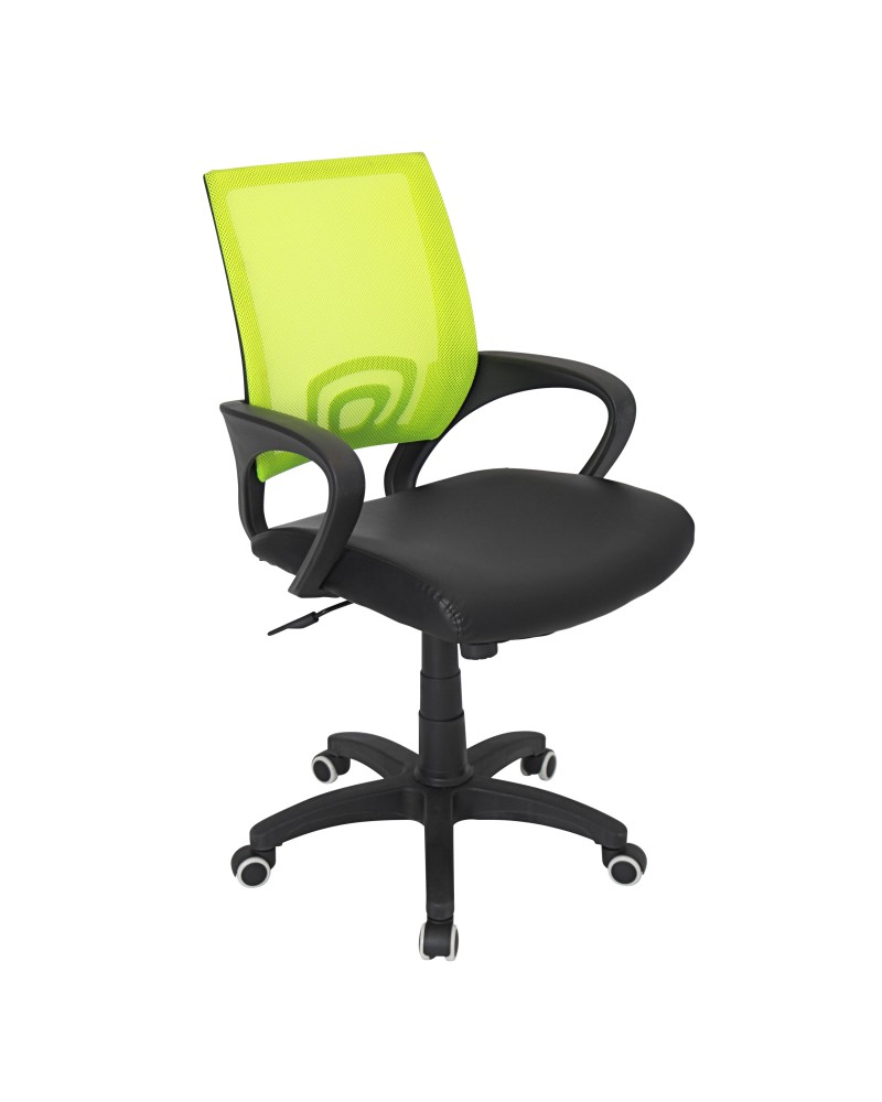 Officer Modern Adjustable Office Chair with Swivel in Lime Green