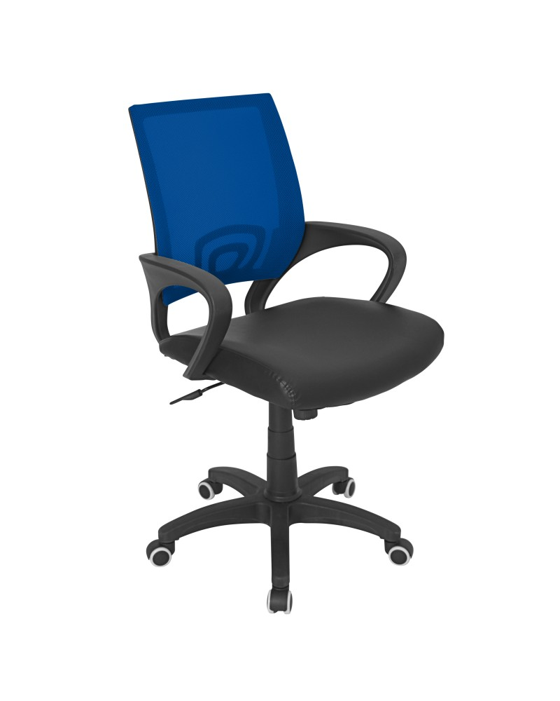 Officer Modern Adjustable Office Chair with Swivel in Blue