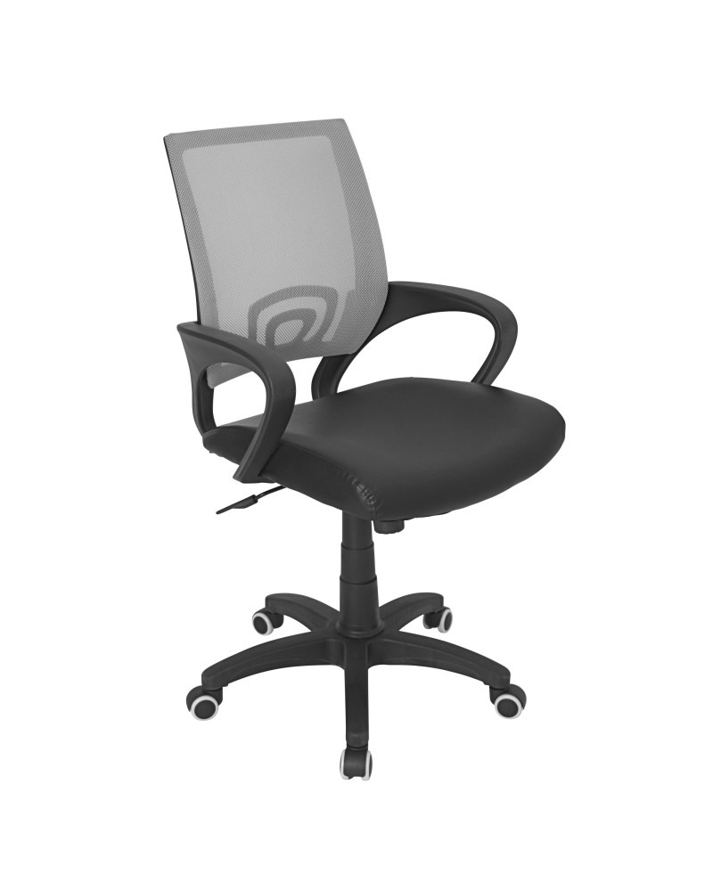 Officer Modern Adjustable Office Chair with Swivel in Silver