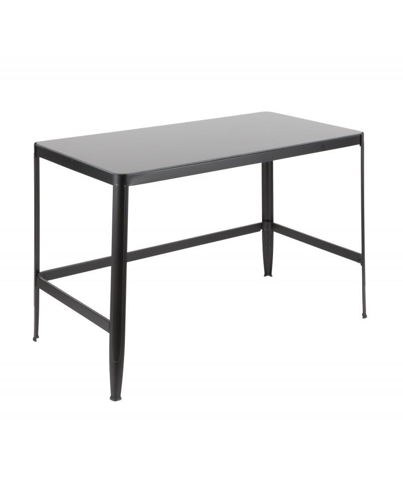 Pia Contemporary Desk in Black