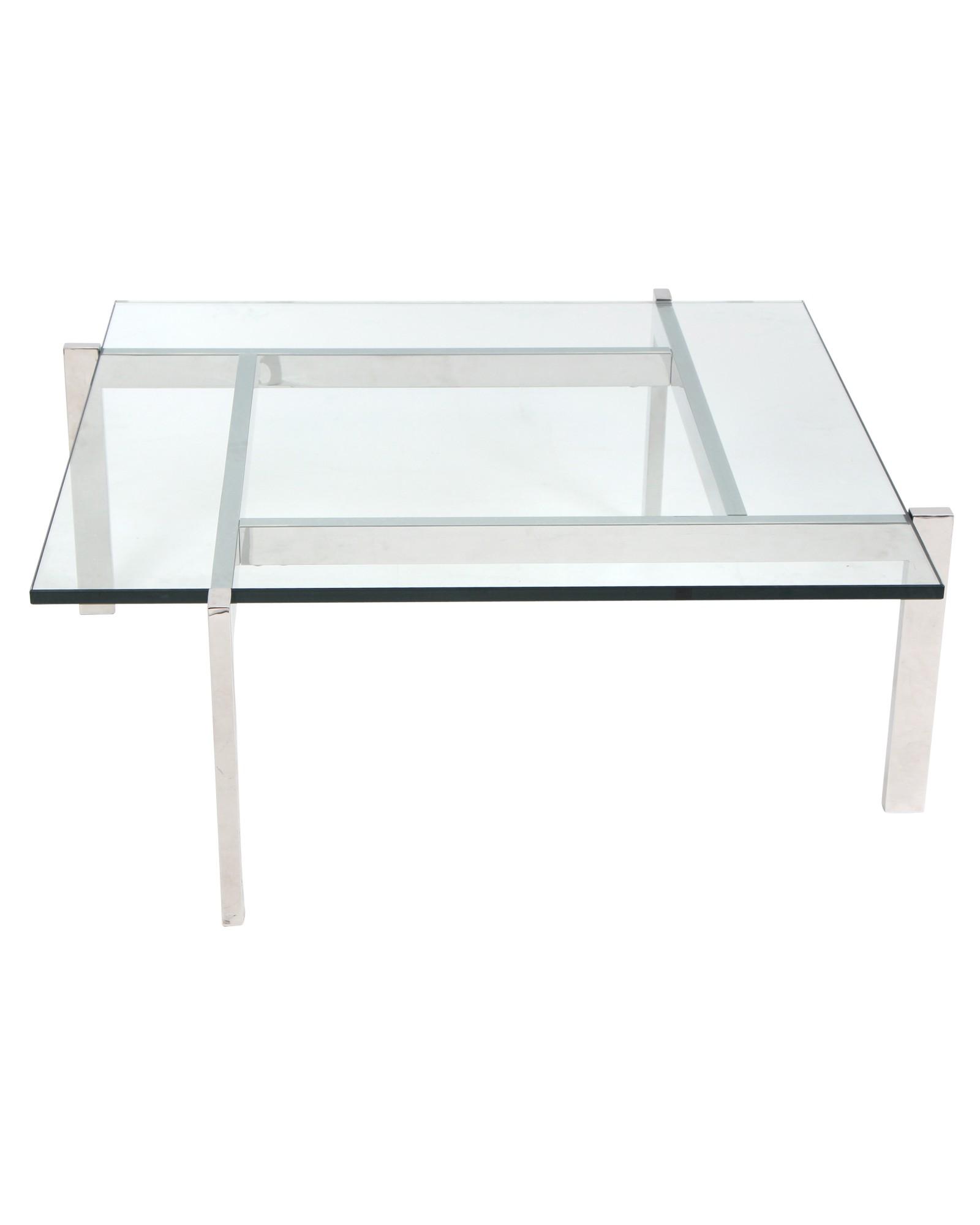 Cosmopolitan Coffee Contemporary Table in Clear