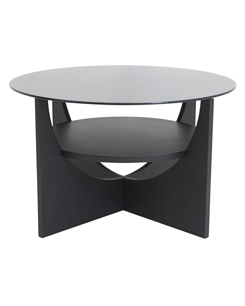 U Shaped Contemporary Coffee Table in Wenge