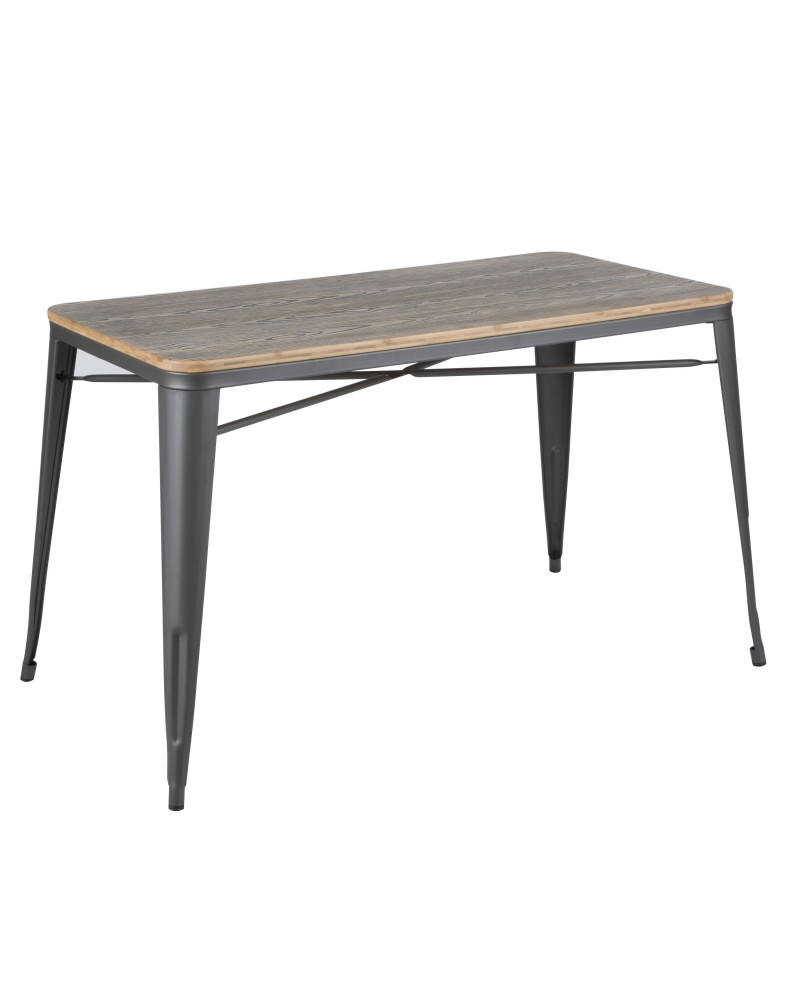 Oregon Industrial-Farmhouse Utility Table in Grey and Brown